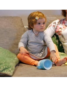 Vaso Litecup Baby Gris Con Asas 200 ml