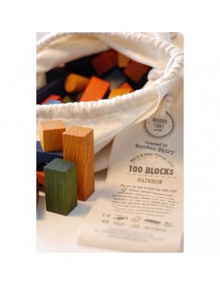 Saco Bloques construcción (Color) 100 piezas