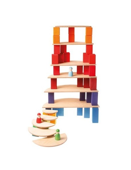 Composición con bloque clásicos de construcción