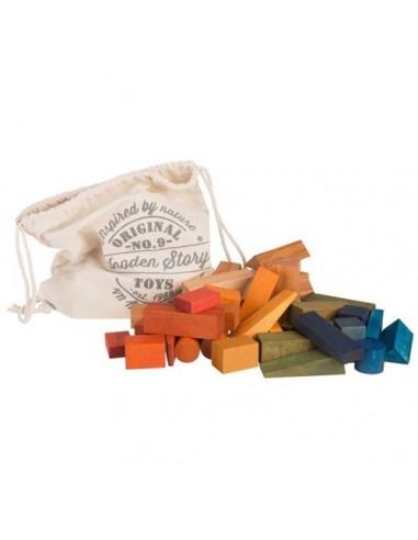 Saco Bloques de construcción XL (Rainbow) 50 piezas