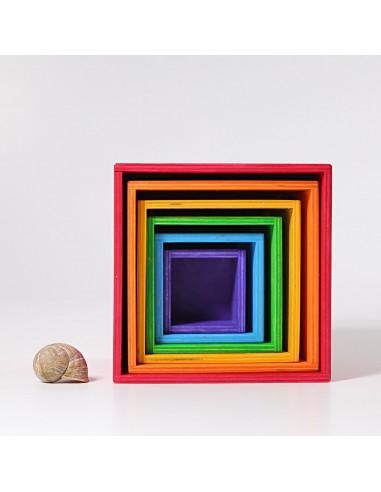 Cajas encajables arcoíris grandes GRIMM´S
