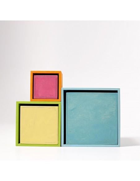 Cajas encajables y apilables grandes GRIMM´S Pastel