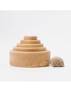 Cuencos encajables y apilables GRIMM´S (Natural)