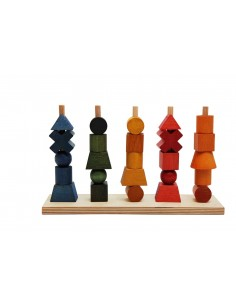 Rainbow Stacking Toy Wooden Story