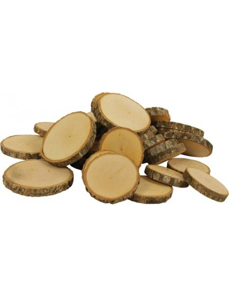 555388 Granel Disco/rodaja madera natural DUSYMA