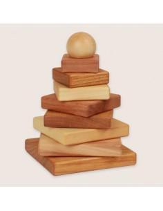 Pirámide para ensartar (Natural)