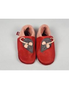 Zapato gateo POLOLO Ratón Rojo
