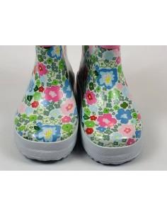 Botas Caña Baja Payshoes Flores