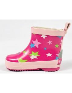 Botas Caña Baja Playshoes Estrellas rosas