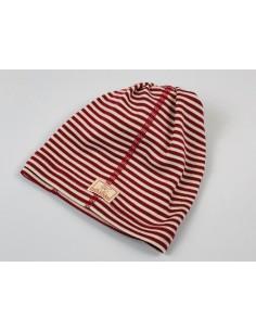 Cuello lana/seda natur/rojo PICKAPOOH