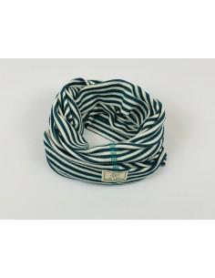 Cuello lana/seda natur-azul PICKAPOOH