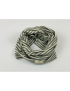 Cuello lana/seda natur/gris PICKAPOOH