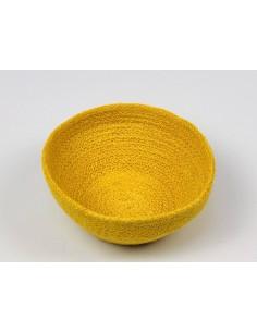Cuenco amarillo Yute Anidando (unidad)