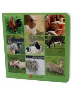 """Libro de fotografías """"Animales de la granja"""" NOWORDBOOKS"""