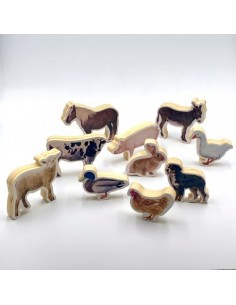 Figuras Animales Madera NOWORDBOOKS