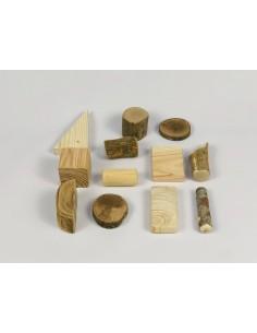 Construcciones natural 15 piezas Vetas y Virutas