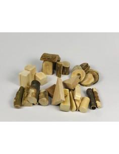 Bolsa 30 piezas construcción natural Vetas y Virutas