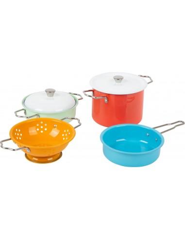 11751 Set de ollas colores con accesorios