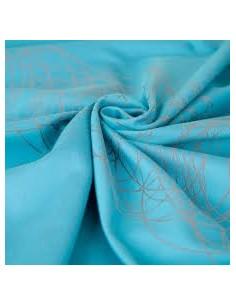 Fular tejido algodón HOPPEDIZ New York Turquesa