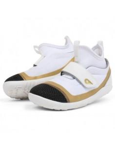 Bobux 834001-KP Hi Dimension Hi Top White Gold