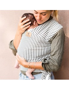 Fular elástico algodón orgánico STRIPES Baby On Earth