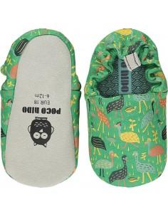 Poco Nido Big Birds Green Mini Shoes  SS21