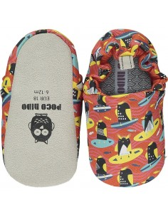 Poco Nido Surfing Penguins Orange - SS21