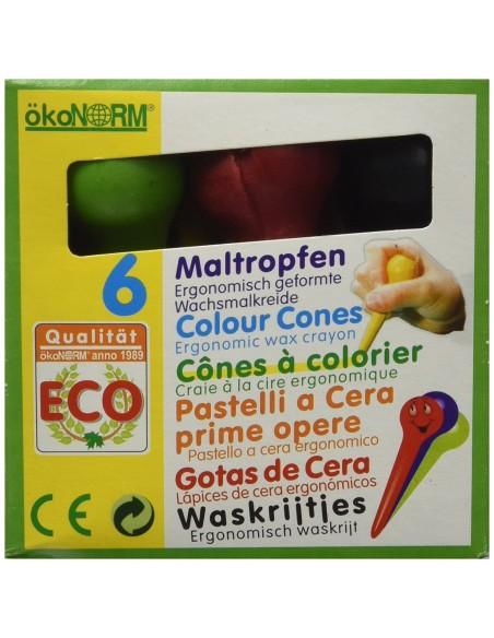 Gotas Cera ecológicas Ökonorm (6 colores)
