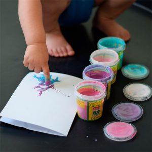Pintando con las manos