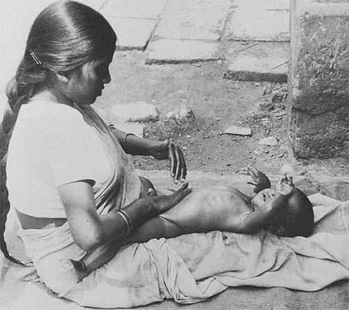 Masaje infantil india